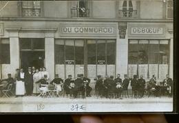 MOURMELON CAFE DU COMMERCE FAMILLE JEBOEUF SUCCESSEUR DE CHARNET ?? CP PHOTO - Mourmelon Le Grand