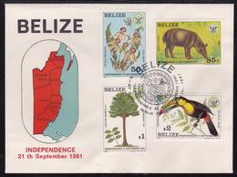 Belize, 1981, Independance, FDC - Belize (1973-...)