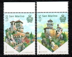 San Marino Europa CEPT 2017 MNH Castles - 2017