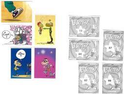 Lot De 5 Vignettes Titeuf La Megacompèt - Other Collections