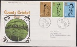 Grossbritannien 1973 MiNr.621 - 623 FDC 100 Jahre County Cricket- Meisterschaften ( D 5407 )günstige Versandkosten - FDC