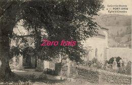 19 - Port-Dieu - Eglise Et Cimetière - 1905 - Autres Communes
