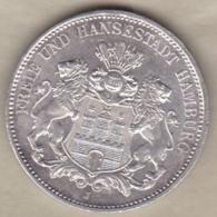 Ville Libre De Hambourg 3 Mark 1911 J (HAMBOURG), KM# 620 , En Argent - [ 2] 1871-1918 : German Empire