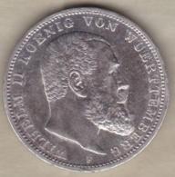 Württemberg 3 Mark 1914 F (STUTGART), Wilhelm II , KM# 635 , En Argent - [ 2] 1871-1918: Deutsches Kaiserreich