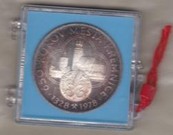 Slovakia / Solvenie, Medaille 650 Years Of Kremnica (Kremnitz) 1328 – 1978. Proof, Dans Sa Boite , En Argent. - Jetons & Médailles