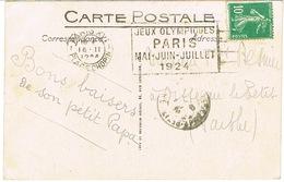O.MEC FLIER PARIS XVI PLACE CHOPIN JEUX OLYMPIQUES PARIS 1924 SUR CPA - Verano 1924: Paris