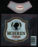 Autriche Lot 2 Etiquettes Argentées Bière Beer Labels Mohrenbräu Mohren Pfiff - Bière