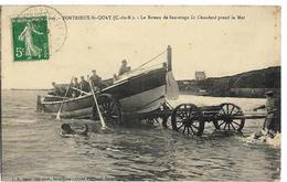 PORTRIEUX ST-QUAY  Le Bateau De Sauvetage Le Chauchard Prend La Mer Ed. Barat 929 - Saint-Quay-Portrieux