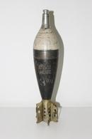 Militaria - OBUS DE MORTIER N°3 INERTE 80MM A IDENTIFIER - Munition / Artillerie / Missile / Grenade / Armée Française ? - Armes Neutralisées