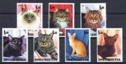 RUSSIE Ingushetia 2000, CHATS / CATS, 7 Valeurs, Neufs / Mint. R264 - Vignettes De Fantaisie