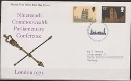 Grossbritannien 1973 MiNr.632 - 633 FDC Commonwealth-Parlaments-Konferenz ( D 5349 )günstige Versandkosten - FDC