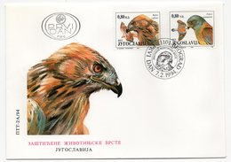 YUGOSLAVIA, FDC, 07.02.1994, COMMEMORATIVE ISSUE:  PROTECTED SPECIES, BIRDS, CORRECT PRINT - FDC