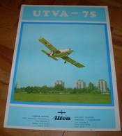 Airplane Brochure UTVA-75 Yugoslavian EXTREMELY RARE - Magazines