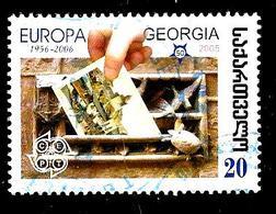 GÉORGIE 406° 20t Europa 2006 Main Glissant Sur Une Carte Postale (10% De La Cote + 0,15) - Georgia