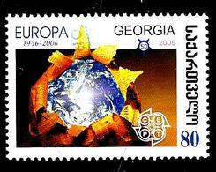 GÉORGIE 408° 80t Europa 2006 Globe Et Logo De La CEPT (10% De La Cote + 0,15) - Georgia