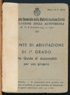 °°° PATENTE ABILITAZIONE I° GRADO 1943 CON FOTO °°° - Vecchi Documenti