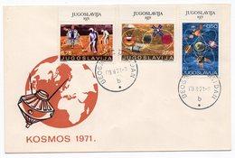 YUGOSLAVIA, FDC, 08.02.1971. COMMEMORATIVE ISSUE: SPACE 1971 - FDC