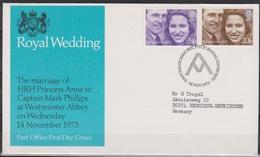 Grossbritannien 1973 MiNr.637 - 638 FDC Hochzeit Prinzessin Anne Und Mark Phillips ( D 3085 )günstige Versandkosten - FDC