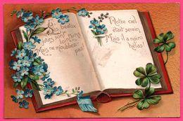 Fantaisie Gaufrée - Livre - Les Beaux Jours Sont Lointains, Mais ... Notre Ciel était Serein, Mais ... - Poème - Trèfle - Autres