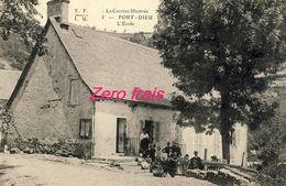 19 - Port-Dieu -   L'Ecole - 1905 - Autres Communes