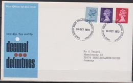 Grossbritannien 1973 MiNr.634 - 636 FDC Königin Elizabeth II. ( D 3488 )günstige Versandkosten - FDC