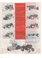 Prospectus Agricole Tracteur MASSEY HARRIS Le PONY Et Ses Instruments Agricoles No SFV Fiat Ford Someca - Agriculture