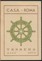 °°° TESSERA C.A.S.A. CONFEDERAZIONE ARTIGIANA 1974 °°° - Non Classificati