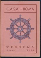 °°° TESSERA C.A.S.A. CONFEDERAZIONE ARTIGIANA 1975 °°° - Non Classificati