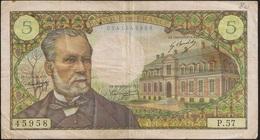 Banknote France Pasteur - 5 Francs - 5-5-1967 J - Cinq Francs - BC - 1962-1997 ''Francs''