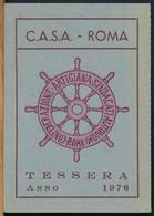 °°° TESSERA C.A.S.A. CONFEDERAZIONE ARTIGIANA 1976 °°° - Old Paper