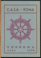 °°° TESSERA C.A.S.A. CONFEDERAZIONE ARTIGIANA 1976 °°° - Vecchi Documenti
