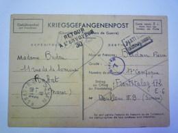 GP 2019 - 1008  CARTE En  FM  Au Départ Du MAROC En 1941 / FRONTSTALAG 172  DOULLENS - RARE XXXX - Franchise Militaire (timbres)