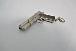 Vintage TOY GUN :COLT 1911 CAPTAIN JACK - L=8,5cm - Keychain 1960s - Keywords : Cap - Gun -Revolver - Pistol - Tin - Decotatieve Wapens