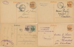 Belgique Ensemble De 4 Entiers CP - Surch Belgien - Censure - WW1 - WW I