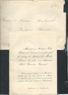 Chatellerault/Libournes F.P. Mariage De Mlle Marthe Paine Ave M Albert Bruneau Le 18/09/1900  Bpho0813 - Wedding