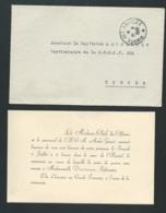 Invitation à  Une Cérémonie De Remise De La Croix De Guerre à Mll Dantoine , Infirmière En 1949 , Trèves  Bpho0816 - Announcements