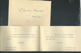 F.P. Naissance De  Pierre Jacquot , à Trèves Le 16/04/1949    Bpho0818 - Birth & Baptism