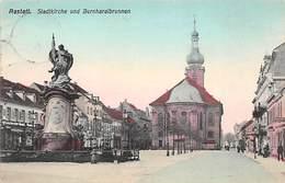 Raststatt, Stadtkirche Und Bernhardbrunnen - Rastatt