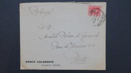 Lettre A En Tete Banco Calamarte Madrid Perforé GCC Pour Porto  , Perforado , Perfin , Lochung - 1931-Aujourd'hui: II. République - ....Juan Carlos I