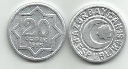 Azerbaijan 20 Qapik 1993. - Azerbaiyán