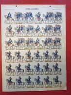 Image D' Epinal Pellerin - Cuirassiers à Cheval N° 251 - Format 30 X 40 Cm - Vieux Papiers