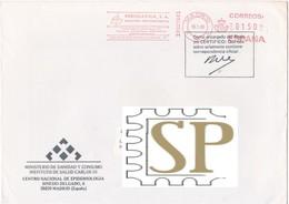 España 1992 Franquia Mecânica Cover Publigarma Marketing Publicidad Ema Red Meter Freistempel Postmark Sanidad - Machine Stamps (ATM)
