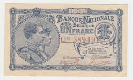 Belgium BELGIQUE 1 Franc 1920 XF RARE Banknote Pick 92 - [ 2] 1831-... : Regno Del Belgio