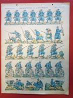 Image D' Epinal Pellerin - Infanterie Française - Infanterie à L'attaque... N° 177 - Format 30 X 40 Cm - Vieux Papiers