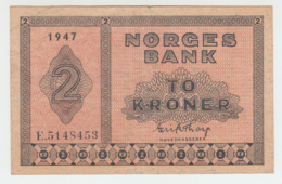 Norway 2 Kroner 1950 VF+ Crispy Pick 16b 16 B - Norway