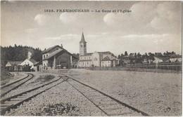 FRAMBOUHANS (25) Gare Et église Train Petit Plan - France