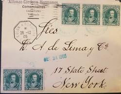 O) 1905 VENEZUELA, GENERAL JOSE DE SUCRE SCT 231 5c Blue Green, -COLON A BORDEAUX, FROM ALFONZO CORDOVA HERMANOS-CARUPAN - Venezuela