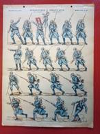 Image D' Epinal Pellerin - Infanterie Française - Infanterie à L'attaque... N° 150 - Format 30 X 40 Cm - Vieux Papiers