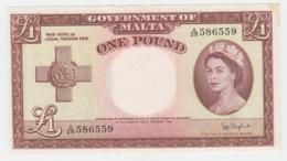 Malta 1 Pound 1949 AUNC Pick 24b - Malta