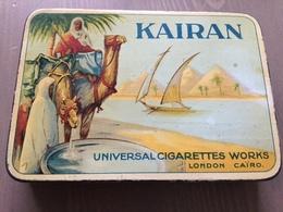 Tinbox, Tin Box, Cigarettes, Smoke, Kairan, Universal Cigarettes Works Lonon, Cairo.Man On Camel. - Boites à Tabac Vides